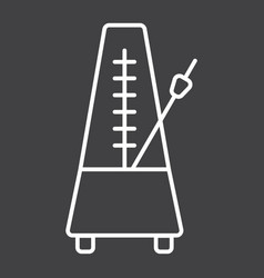 Metronome line icon music and instrument vector