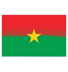 National Burkina Faso Grunge Flag vector image
