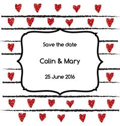 Wedding invitation template vector image vector image