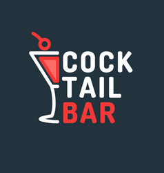 bright of a cocktail bar the vector image