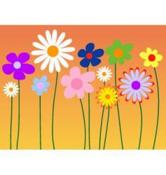 floral style vector image vector image