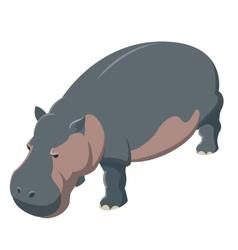 Hippo isometric icon vector image