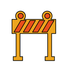Light barrier construction icon vector