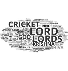 Lord word cloud concept vector