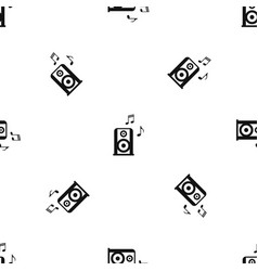 portable music speacker pattern seamless black vector image vector image