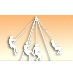 swings cutout vector image