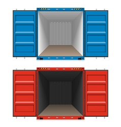 Freight shipping open cargo containers vector image vector image