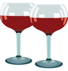 glass of red wine vector image