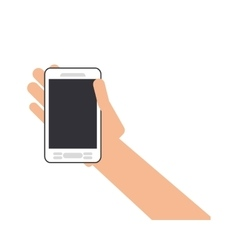 human hand smartphone mobile vector image