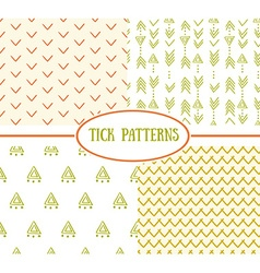 Set of tick seamless ethnic pattern It can be used vector image vector image