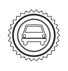 star emblem front car icon vector image