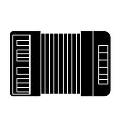accordion icon black sign on vector image vector image