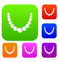 bead set color collection vector image