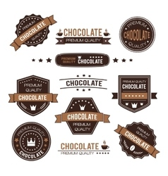 Set of chocolate design logo and icons vector image