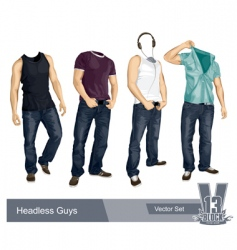 set of headless guys isolated vector image vector image
