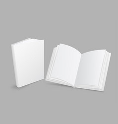 white book closed and open vector image vector image