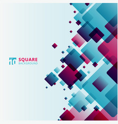 abstract modern technology futuristic squares vector image
