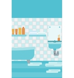 Background of leaking sink in the bathroom vector image