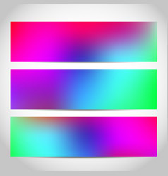 banners or headers footers with trendy bright vector image