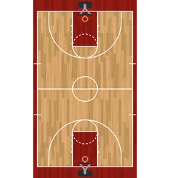 Basketball Court vector