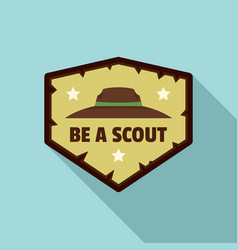 be scout logo flat style vector image