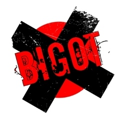 Bigot rubber stamp vector