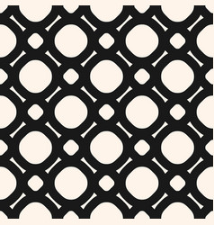 black and white geometric seamless lattice pattern vector image