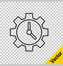 black line time management icon isolated on vector image
