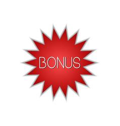 bonus circular star icon isolated sticker badge vector image