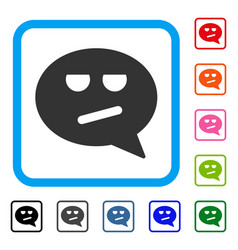 bored smiley message framed icon vector image