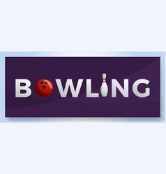 bowling club logo for print design internet vector image