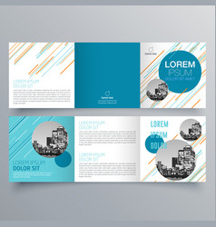 Brochure design 960 vector