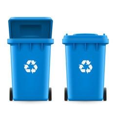 Buckets for trash vector