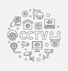 cctv round modern line symbol vector image