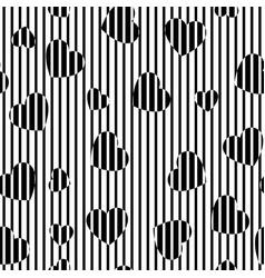 Chaotic print hearts vector