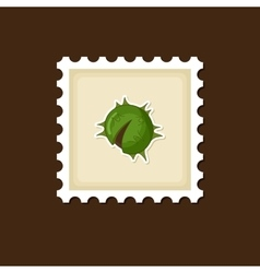 Chestnut stamp Harvest Thanksgiving vector