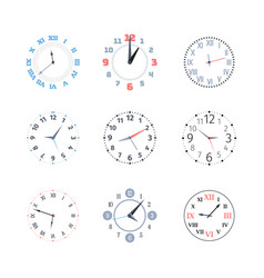 clock time set dial with roman and arabic vector image