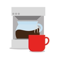 Coffee machine and mug design vector