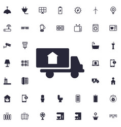 Delivery truck icon vector