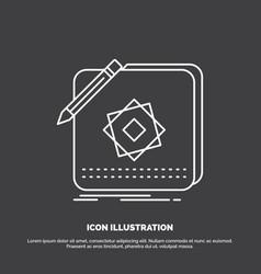 design app logo application design icon line vector image