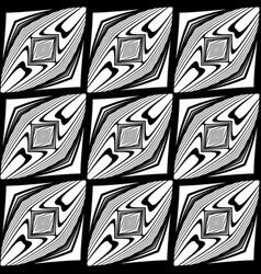 design seamless monochrome diamond pattern vector image