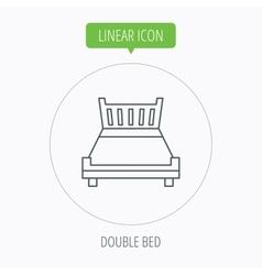 Double bed icon Sleep symbol vector image