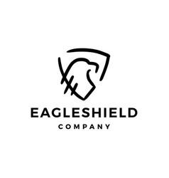 eagle shield doodle logo icon vector image