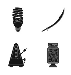 Economical lamp scimitar and other web icon in vector