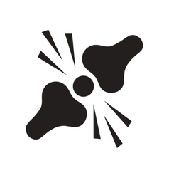 Flat icon in black and white style problems joints vector
