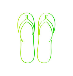 flips flops outline vector image