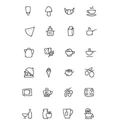 Food Hand Drawn Outline Icons 9 vector image