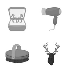 gays horse and other monochrome icon in cartoon vector image