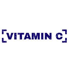 Grunge textured vitamin c stamp seal between vector