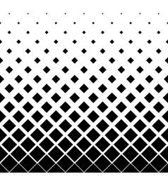 Halftone background pattern of squares in diagonal vector